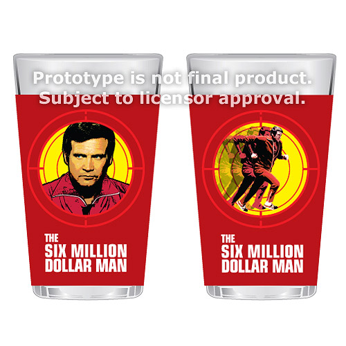 The Six Million Dollar Man 16 oz. Glass Set of 2