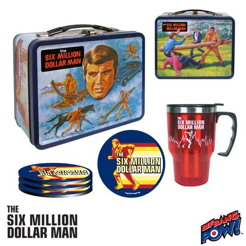 Six Million Dollar Man Retro Tin Tote Gift Set - Exclusive