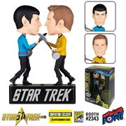 'Star Trek Amok Time Kirk VS. Spock Bobble Heads - CoN. ExcL.' from the web at 'https://www.entertainmentearth.com/images/AUTOIMAGES/BBP16008.jpg'