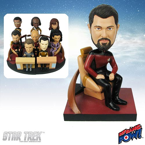 Star Trek: TNG Riker Build-a-Bridge Deluxe Bobble 2 of 8