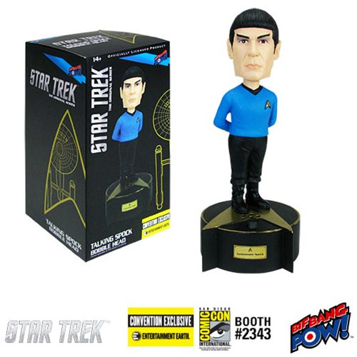 Star Trek: TOS Talking Spock Bobble Head - Con. Exclu.