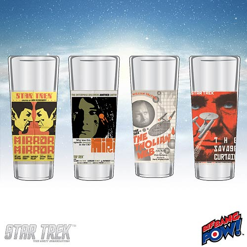 Star Trek The Original Series Fine Art Shot Glasses Set 6