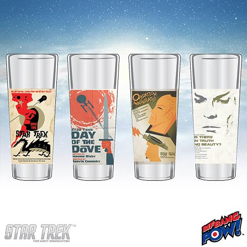 Star Trek The Original Series Fine Art Shot Glasses Set 7