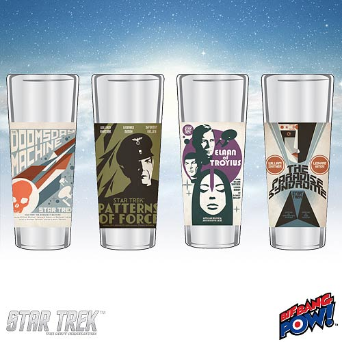 Star Trek The Original Series Fine Art Shot Glasses Set 9