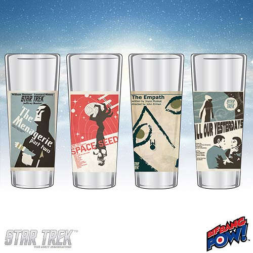 Star Trek The Original Series Fine Art Shot Glasses Set 11