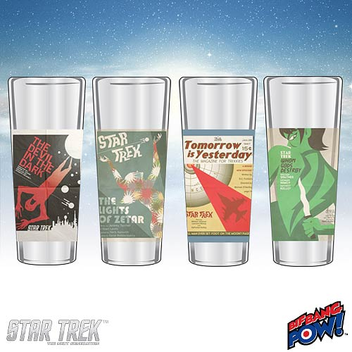 Star Trek The Original Series Fine Art Shot Glasses Set 12