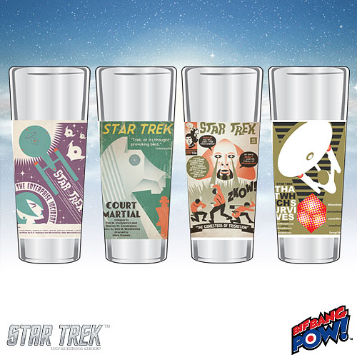Star Trek The Original Series Fine Art Shot Glasses Set 14