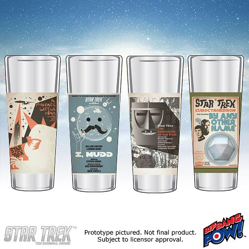 Star Trek The Original Series Fine Art Shot Glasses Set 16