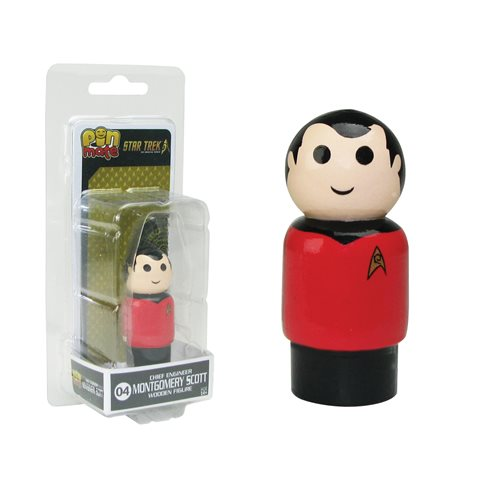Star Trek: TOS Chief Engineer Scotty Pin Mate Wooden Figure