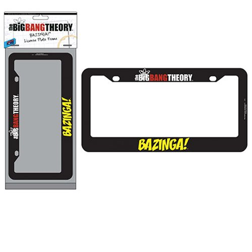 The Big Bang Theory BAZINGA! License Plate Frame