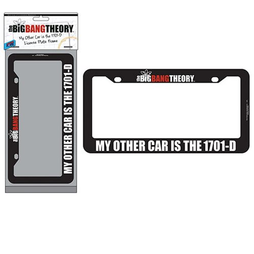 The Big Bang Theory / Star Trek 1701-D License Plate Frame