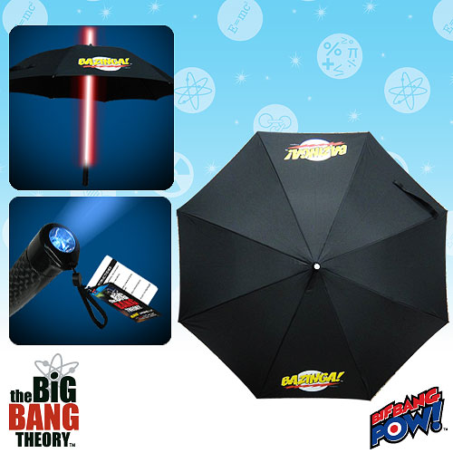 The Big Bang Theory BAZINGA! Umbrella with Red Light-Up Tube