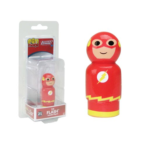 Justice League The Flash Pin Mate Wooden Figure