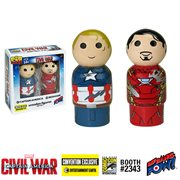Captain America Vs Iron Man Pin Mate Set - Convention ExcL.