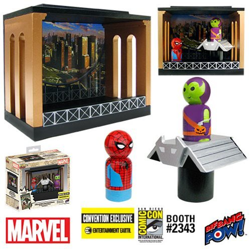 Spider-Man and Green Goblin Pin Mate Diorama - Con. Exclu.