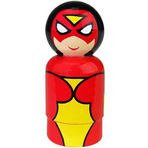 Spider-Woman Pin Mate Wooden Figure