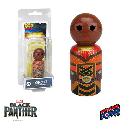 Black Panther Okoye Pin Mate Wooden Figure