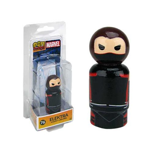 The Defenders Elektra Pin Mate Wooden Figure