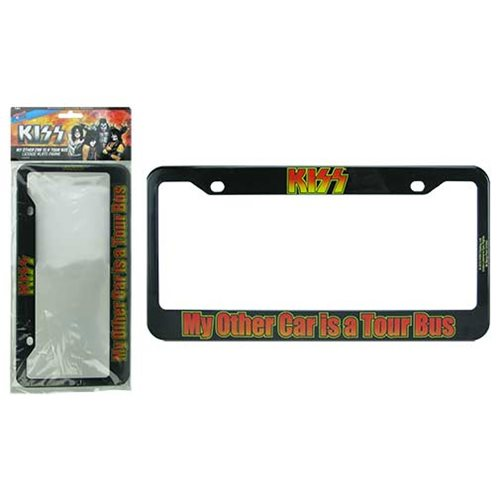 KISS My Other Car is a Tour Bus License Plate Frame