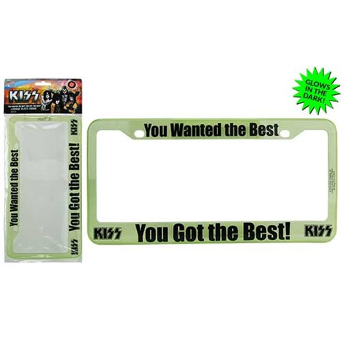 KISS You Wanted the Best License Plate Frame