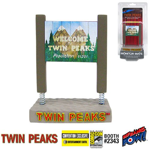Twin Peaks Welcome Sign Monitor Mate Bobble - Con. Exclu.