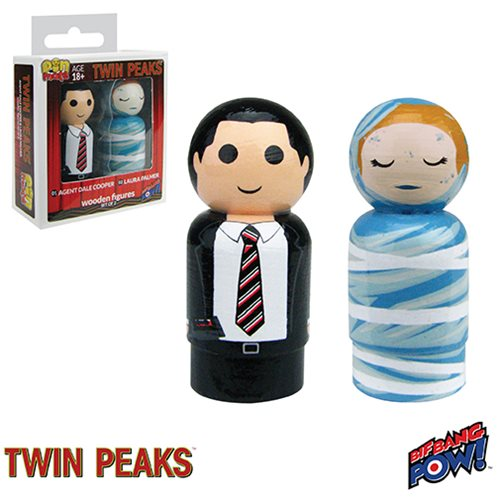 Twin Peaks Cooper and Laura Pin Mate Set of 2