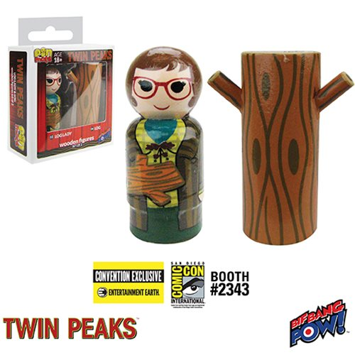 Twin Peaks Log Lady and Log Pin Mate Set of 2 - Con. Exclu.