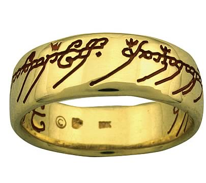 The e Ring 10 kt Gold Badali Jewelry Hobbit Lord of the