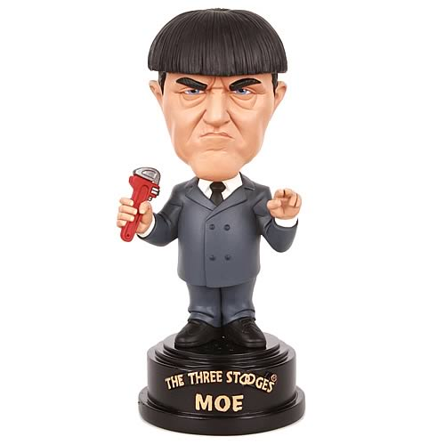 Three Stooges Moe Talking Bobble Head