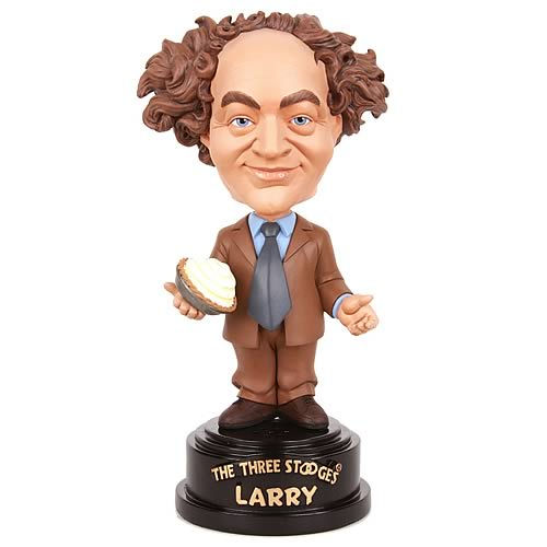 Three Stooges Larry Talking Bobble Head
