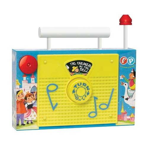Fisher-Price Classic Retro Toy TV Radio