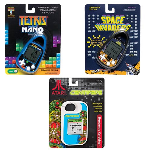 Classic Video Game Electronic Carabiner Key Chain Wave 1 Set
