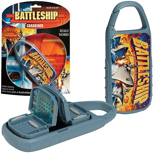 Battleship Carabiner Travel Game