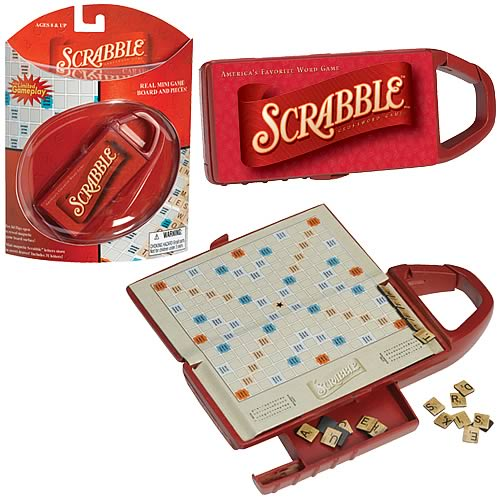 Scrabble Carabiner Travel Game