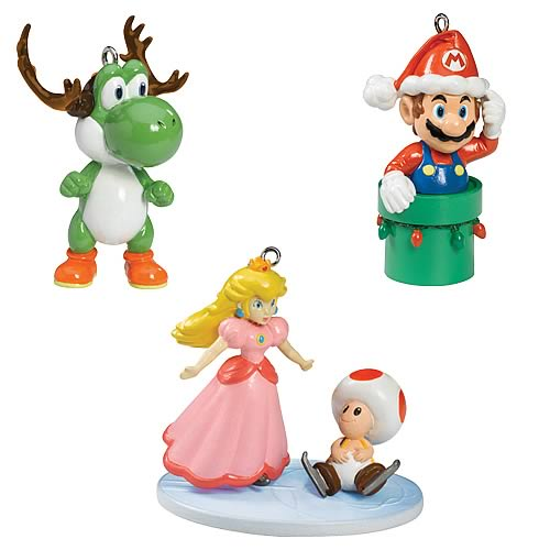 Super Mario Ornaments Set