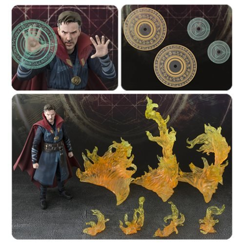 Doctor Strange & Burning Flame Set SH Figuarts Action Figure
