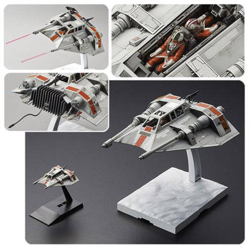 Image result for Bandai Star Wars 1/48 & 1/144 Snow Speeder Set