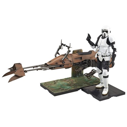 Star Wars Scout Trooper & Speeder Bike 1:12 Scale Model Kit