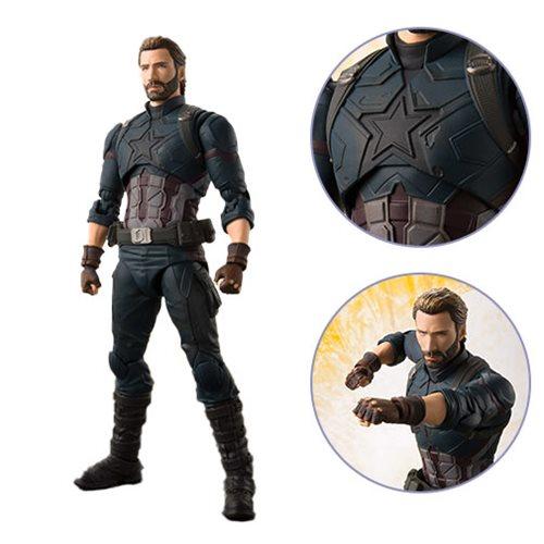 Картинки по запросу S.H.Figuarts Figures - Avengers 3 Infinity War Movie - Captain America And Effect Explosion