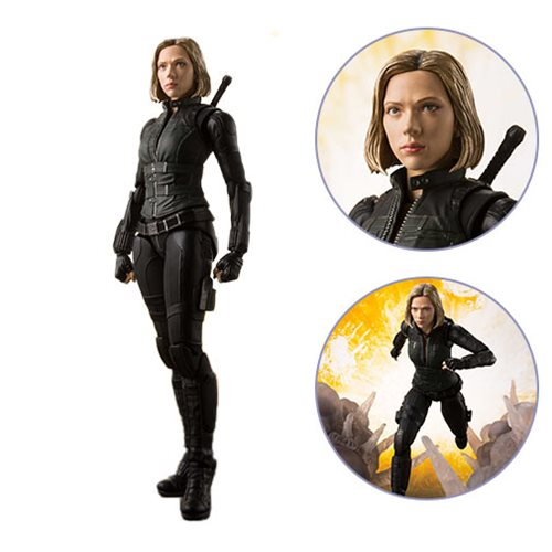 Картинки по запросу S.H.Figuarts Figures - Avengers 3 Infinity War Movie - Black Widow And Effect Explosion
