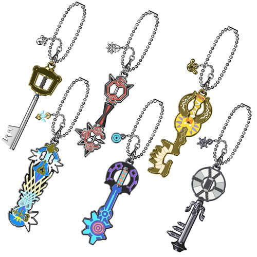 Kingdom Hearts III Keyblade Key Chain Blind-Boxed 12-Pack