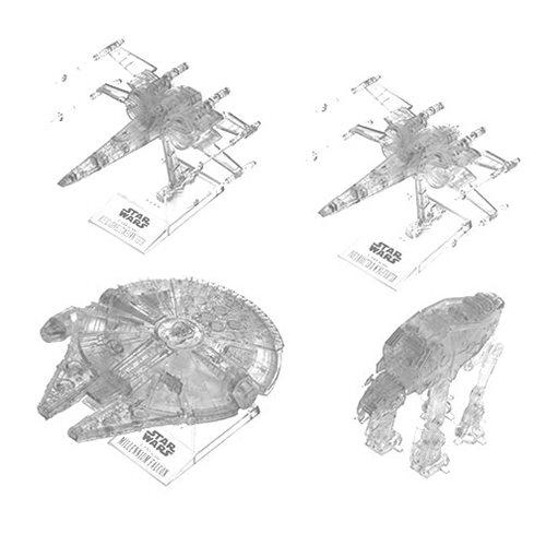 Star Wars: The Last Jedi Clear Vehicle Set Model Kit