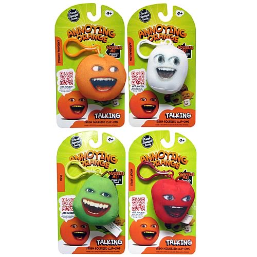 Annoying Orange Talking Fresh Squeezed Plush Key Chain Case