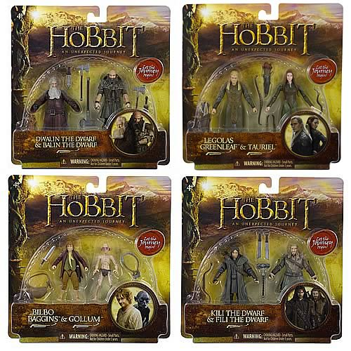 The Hobbit 3 3/4-Inch Adventure Figure 2-Packs Wave 1