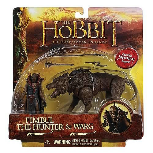 The Hobbit 3 3/4-Inch Scale Orc on Warg Beast Wave 1 Case