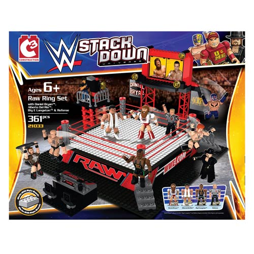 WWE StackDown Universe Raw Ring Playset
