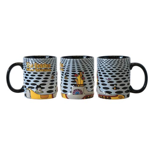 Beatles Yellow Submarine Holes 16 oz. Sculpted Coffee Mug