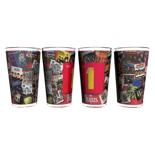 Beatles Albums 16 oz. Sublimated Pint Glass