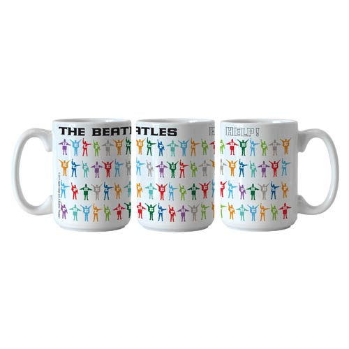 Beatles Help! Pattern 15 oz. Sublimated Coffee Mug