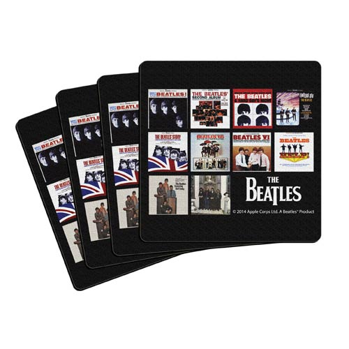 Beatles U.S. Albums 4-Inch Neoprene Coaster 4-Pack